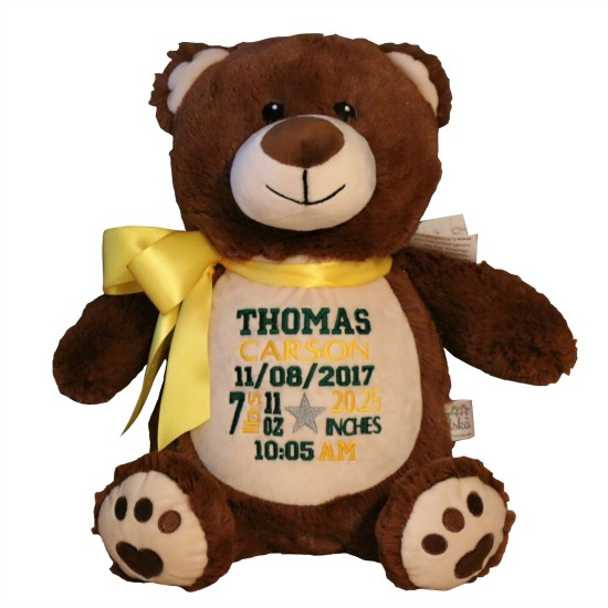 Personalized Brown Bear