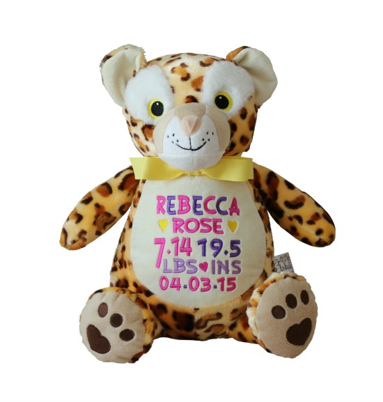 Personalized Cheetah Cat Plush Animal