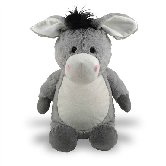 Personalized Grey Donkey Stuffed Animal