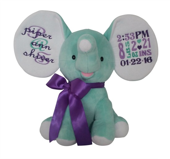Elephant Mint / Purple