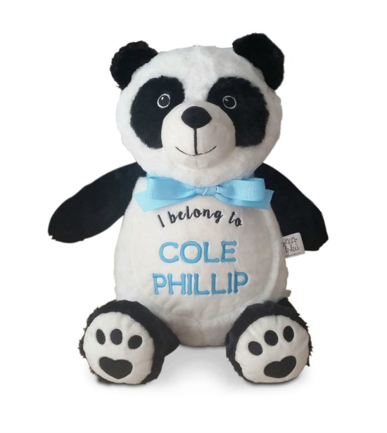 Personalized Panda Bear Stuffed Animal