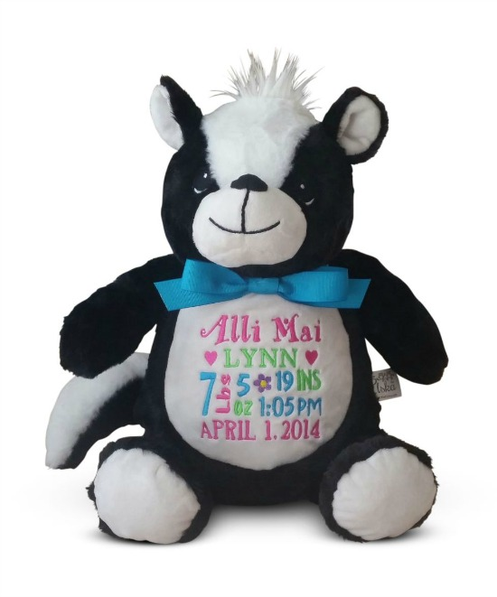 Personalized Skunk Stuffed Animal
