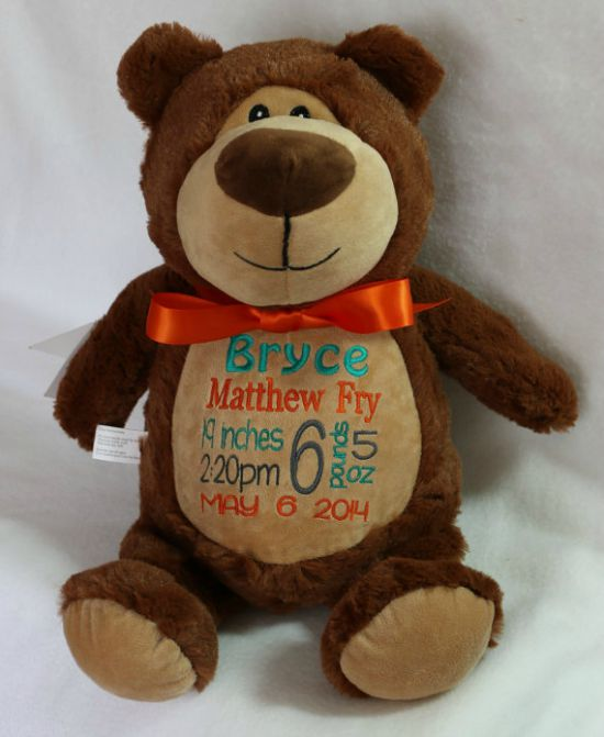 b06fc4654f8 Personalized Bear Baby Cubby Custom Embroidered Stuffed Animal Order ...