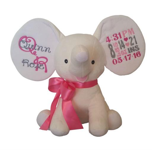 Elephant Cream White Pinks / Grey