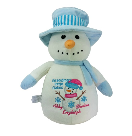 Snowman / Blue / Top Hat
